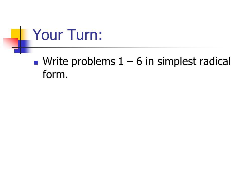 Radicals Review ppt download – Simplest Radical Form Worksheet