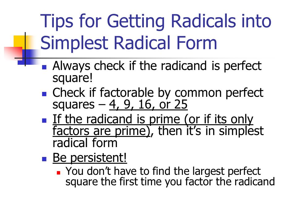 Radicals Review ppt video online download – Simplest Radical Form Worksheet
