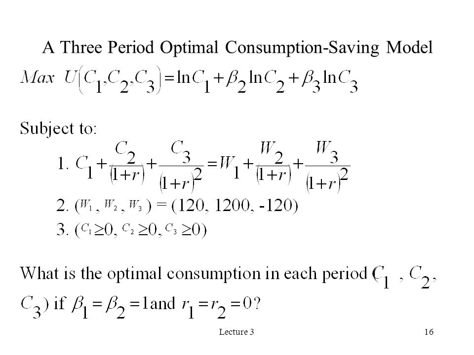 A Three Period Optimal Consumption-Saving Model