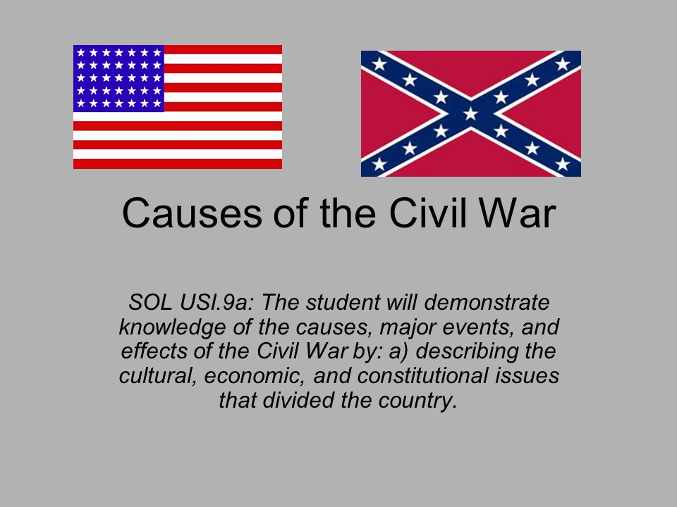 the main causes of the civil war in the united states What caused the civil war a number of issues ignited the civil war: states' rights the role of slavery in bringing on the civil war has been hotly.
