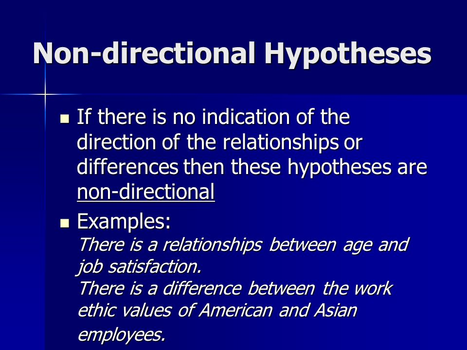 Directional statement and thesis