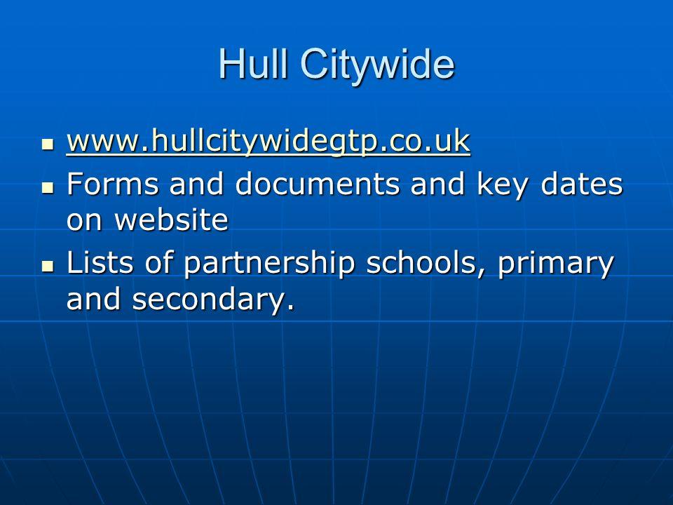 Hull Citywide www.hullcitywidegtp.co.uk