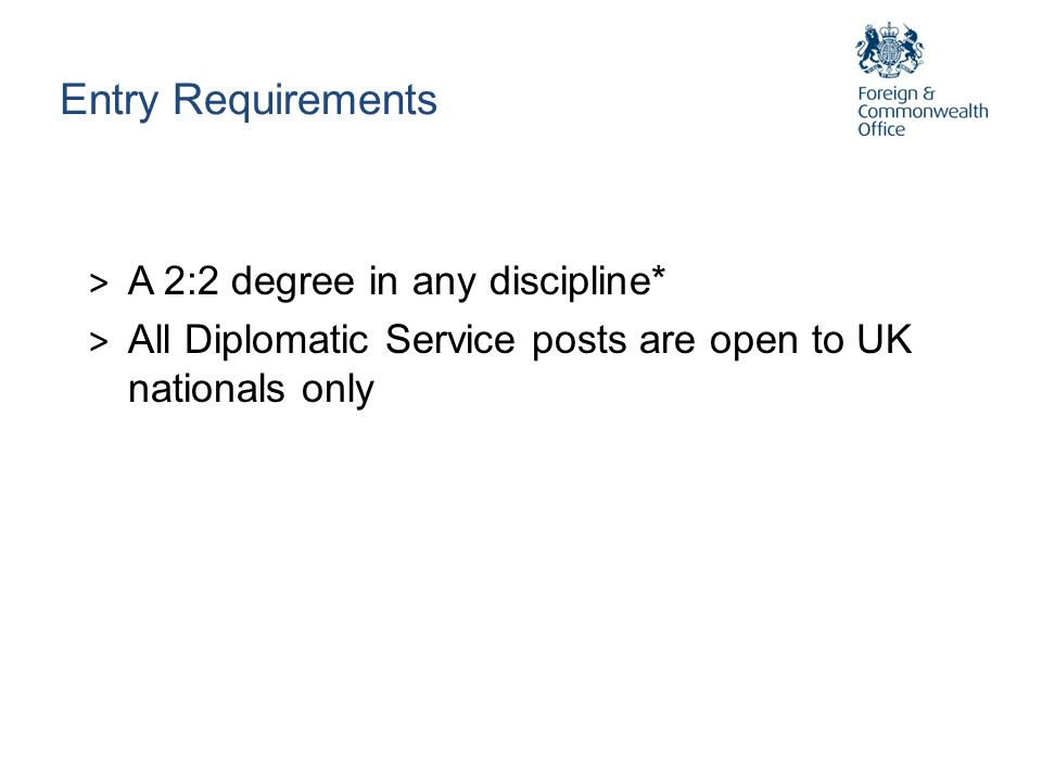 Entry Requirements A 2:2 degree in any discipline*