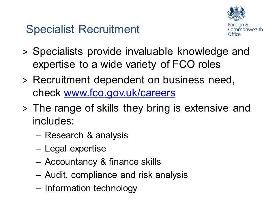 Specialist Recruitment