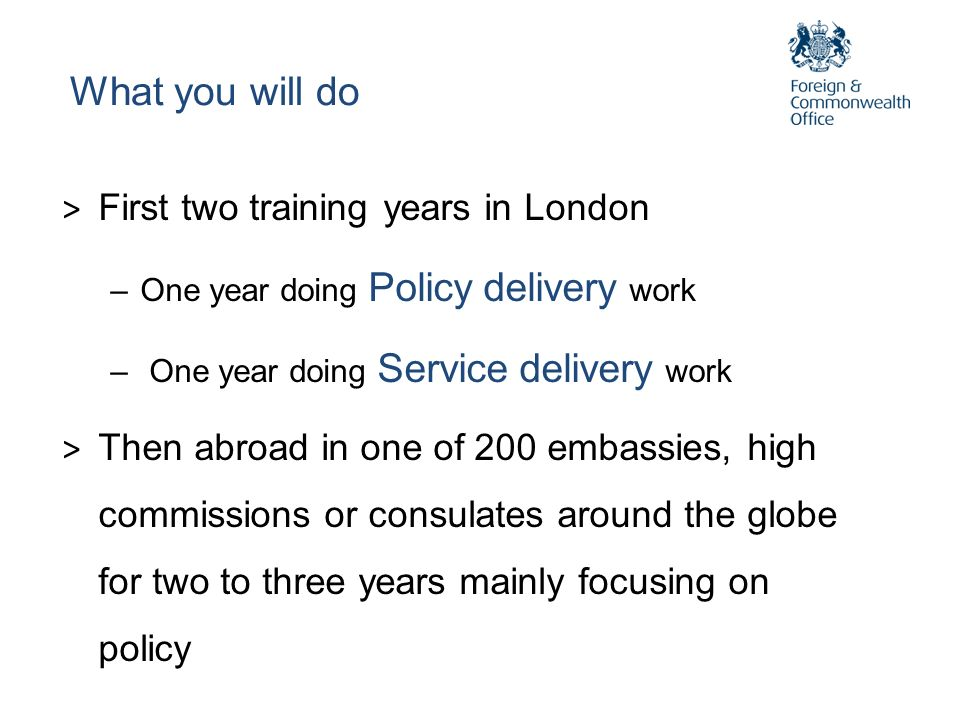What you will do First two training years in London