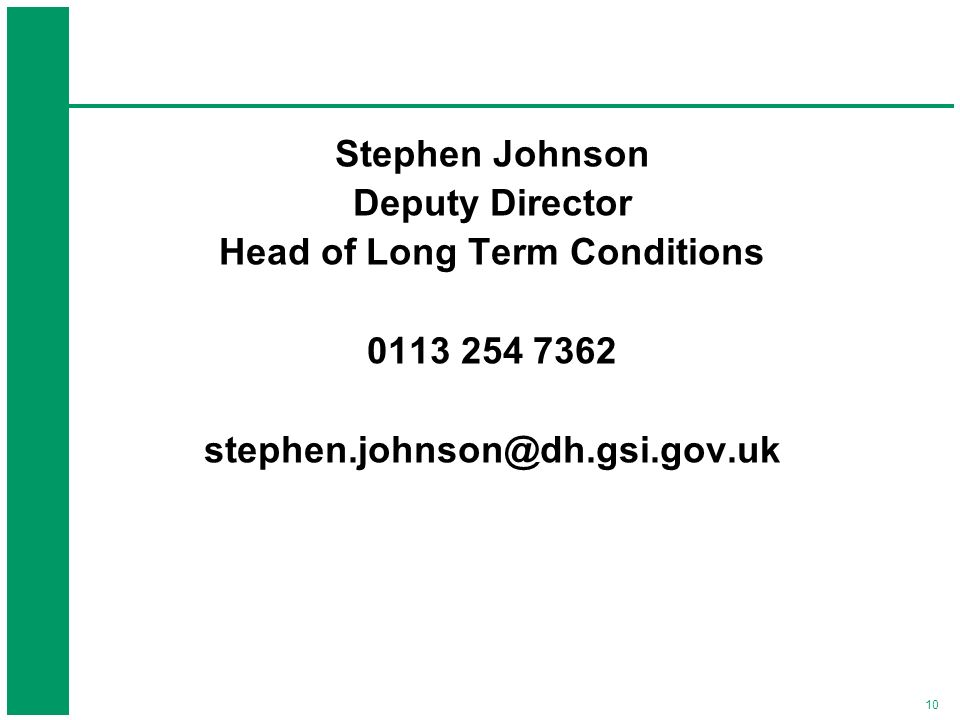 Head of Long Term Conditions
