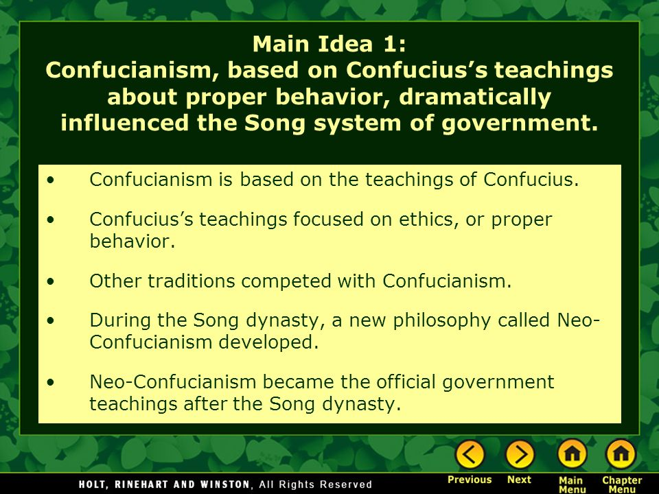 characteristics of confucianism a system of thought In his book mencius, he supplements, he supplements the philosophy of  confucianism by a system of ideas positing the goodness and perfectibility of  people.