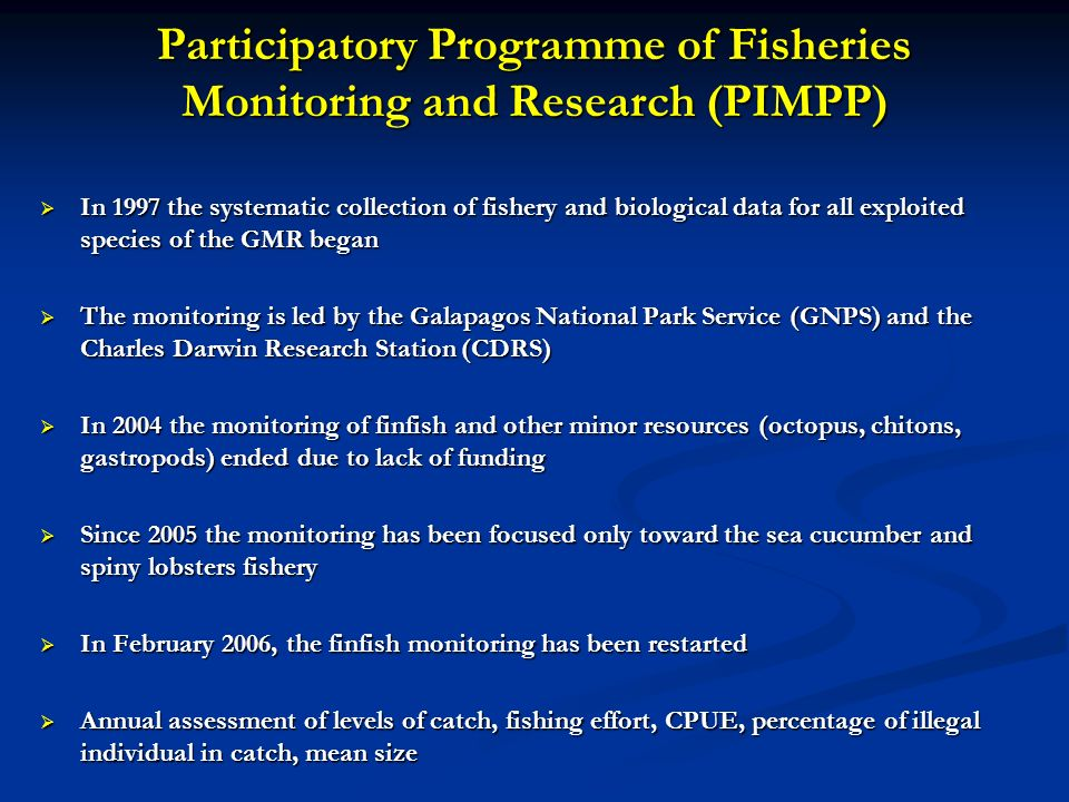 Participatory Programme of Fisheries Monitoring and Research (PIMPP)