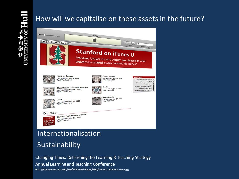 How will we capitalise on these assets in the future