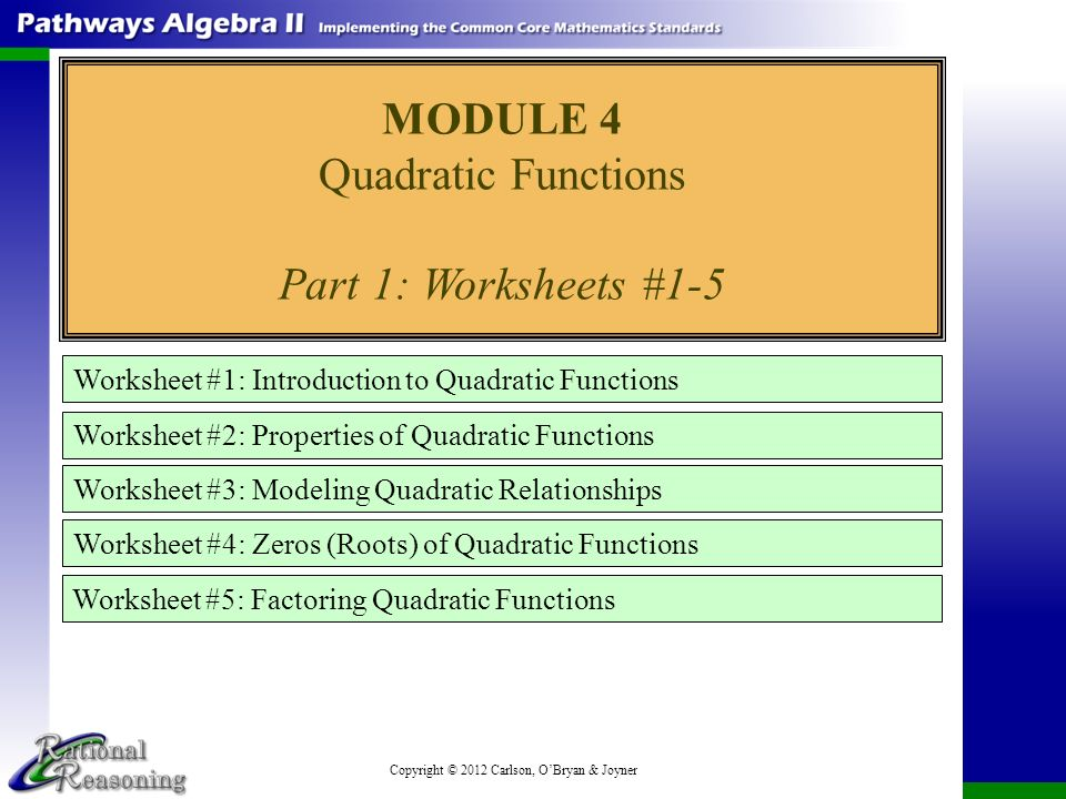 MODULE 4 Quadratic Functions ppt download – Quadratic Functions Worksheet