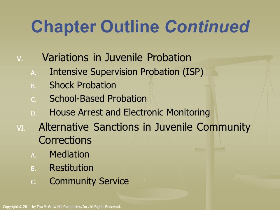intensive probation supervision house arrest and electronic monitoring House arrest prior to sentencing intensive supervision – two (2) probation officers supervise approximately placed on house arrest/electronic monitoring.