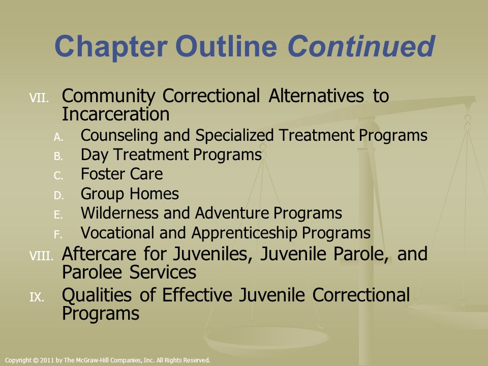 Community Corrections and Rehabilitation reports