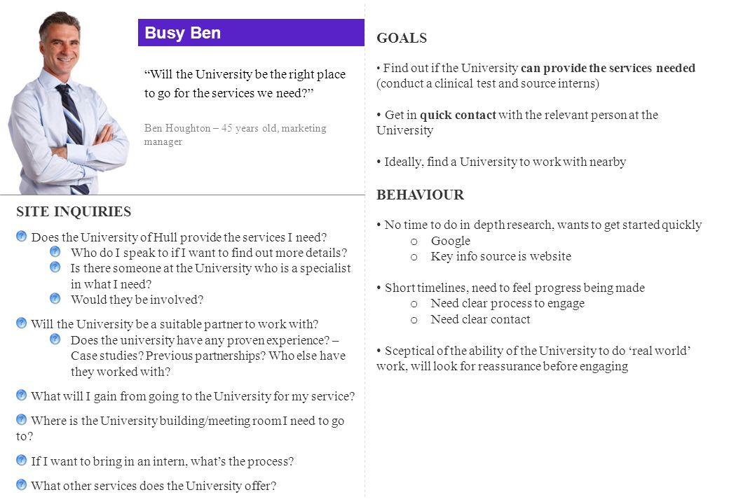 Busy Ben GOALS BEHAVIOUR SITE INQUIRIES