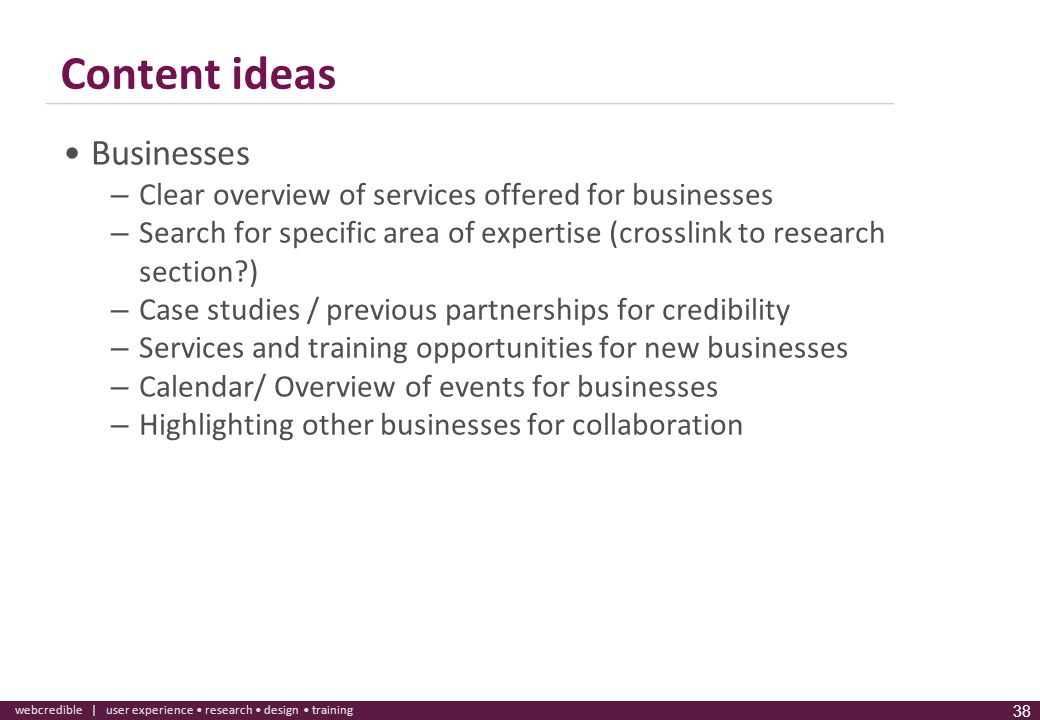 Content ideas Businesses