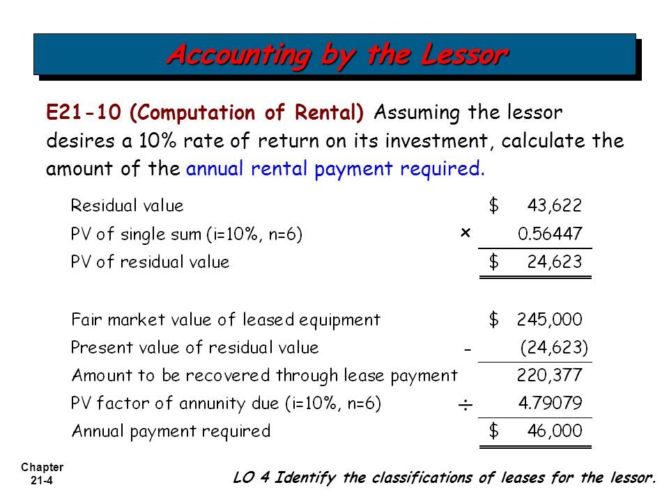 Chapter Accounting For Leases Intermediate Accounting Th