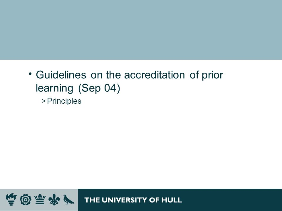 Guidelines on the accreditation of prior learning (Sep 04)
