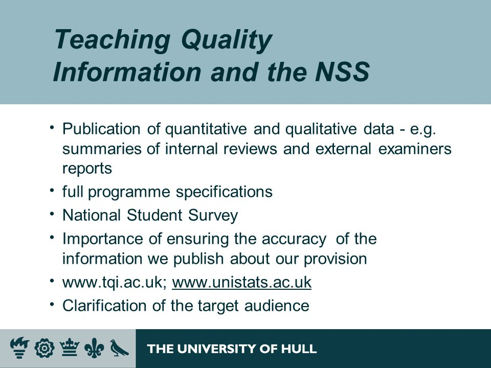 Teaching Quality Information and the NSS