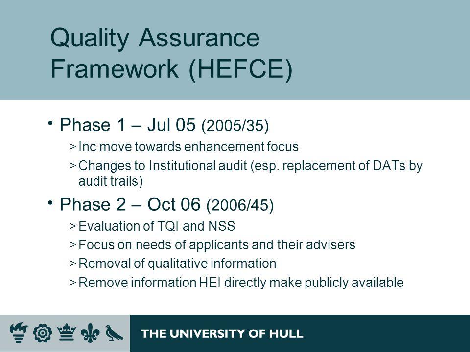 Quality Assurance Framework (HEFCE)