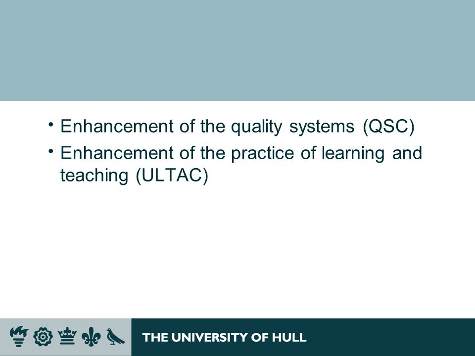 Enhancement of the quality systems (QSC)