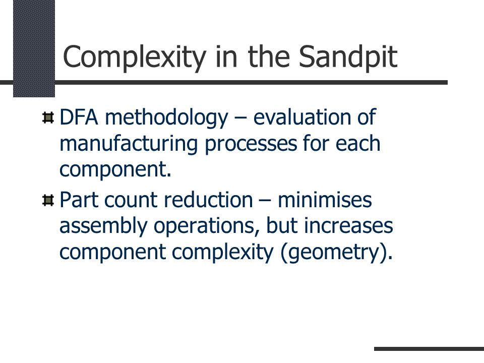 Complexity in the Sandpit
