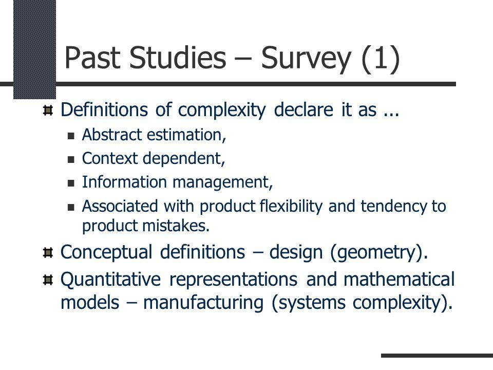 Past Studies – Survey (1)