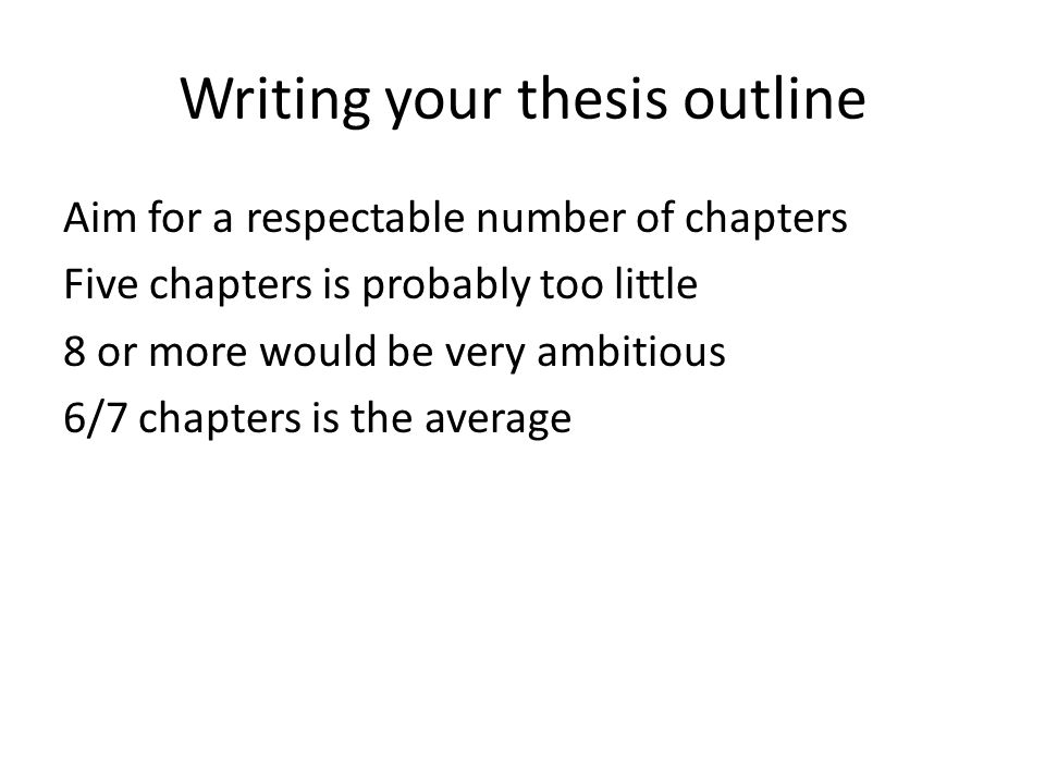 Writing your thesis outline