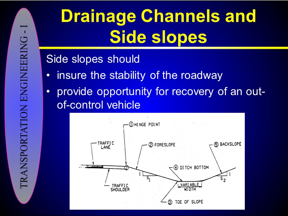 Drainage Channels and Side slopes