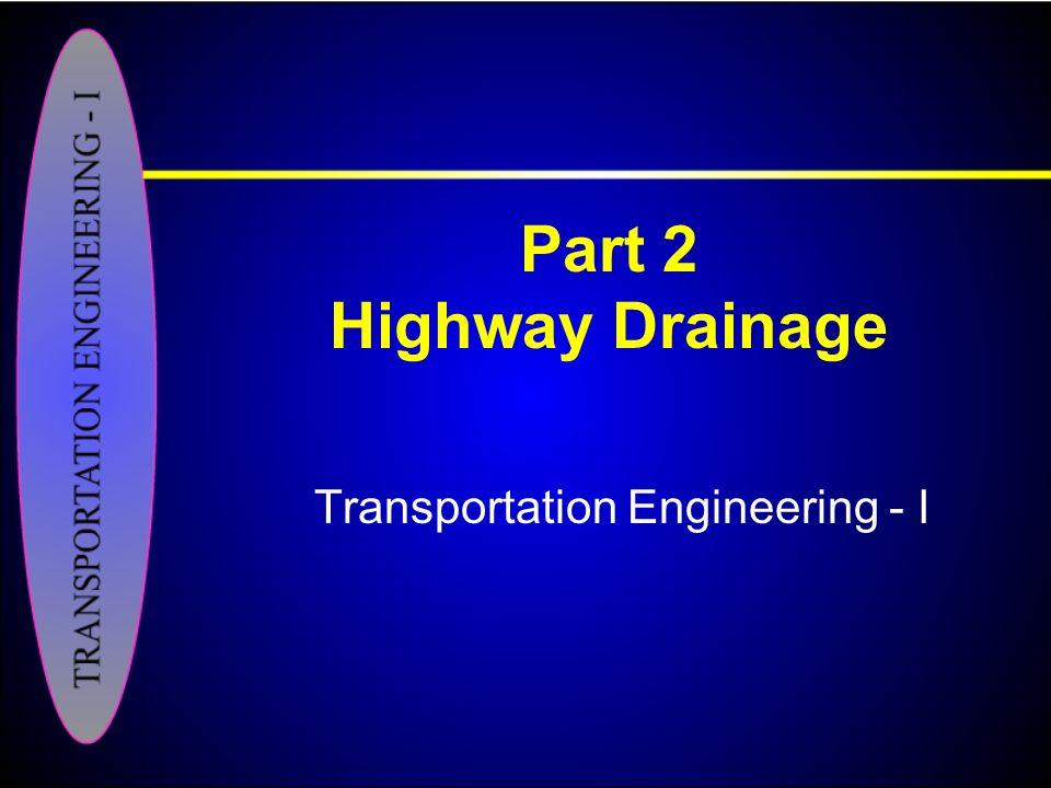 Transportation Engineering - I