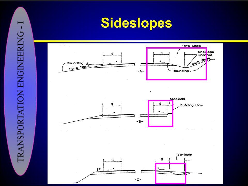 Sideslopes