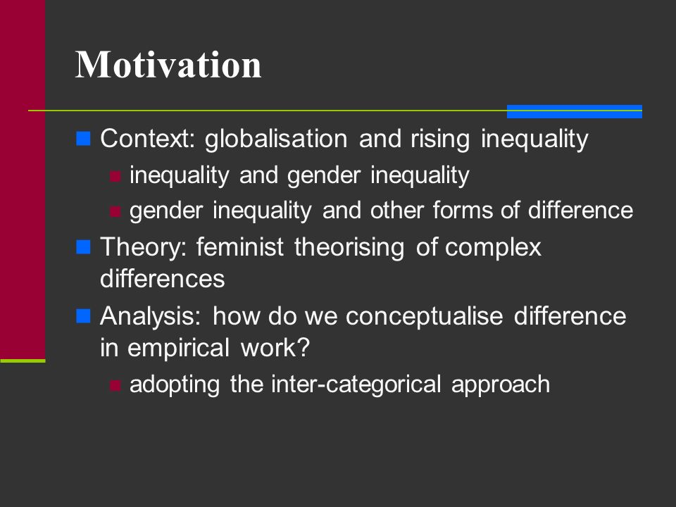 Motivation Context: globalisation and rising inequality