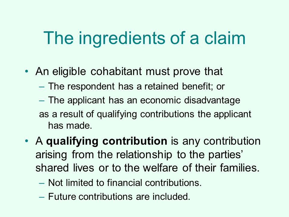 The ingredients of a claim
