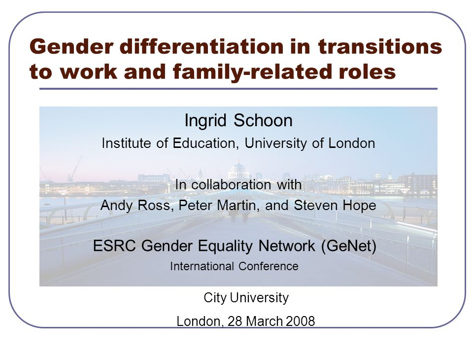 Gender differentiation in transitions to work and family-related roles