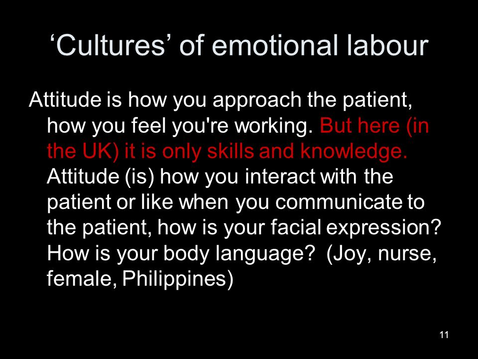 'Cultures' of emotional labour