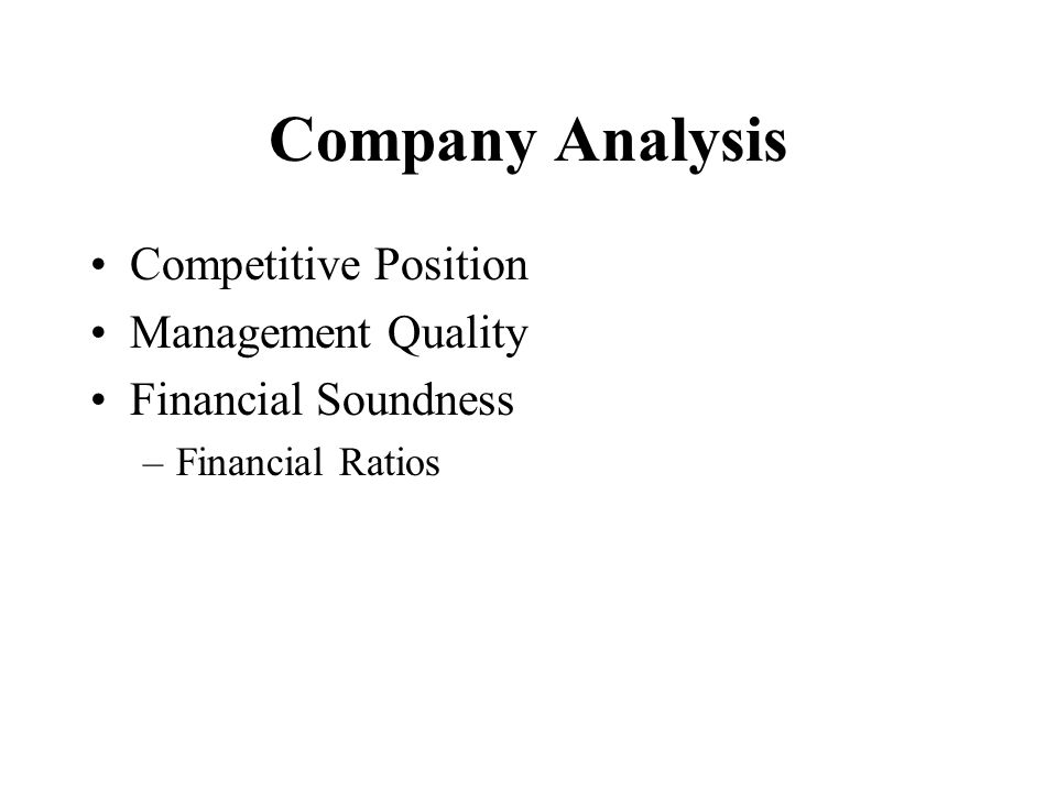 Chapter  Fundamental Analysis  Ppt Download