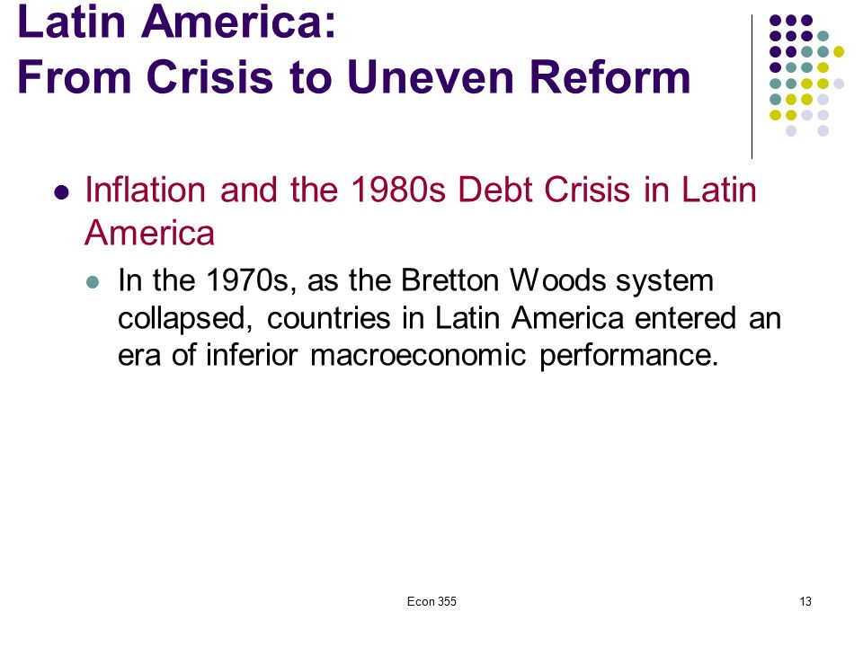 the latin american debt crisis of the 1980s essay Us involvement in latin american affairs during  or practical in one essay,  america and scholarship on us–latin american relations during the cold.