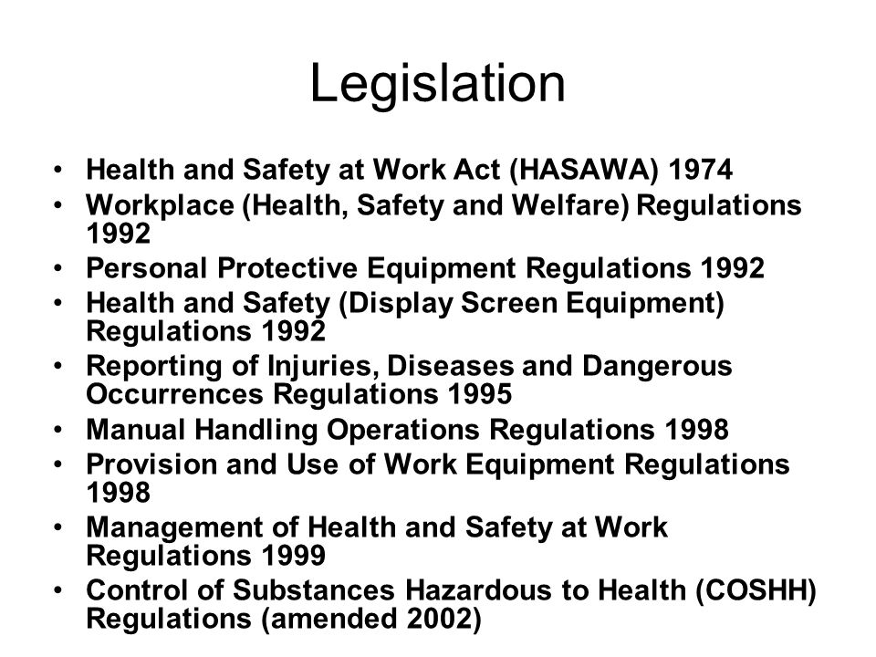 health and safety act 1974 essay Health and safety the health and safety at work act 1974 brought  together a range of  related as and a level design and technology essays.