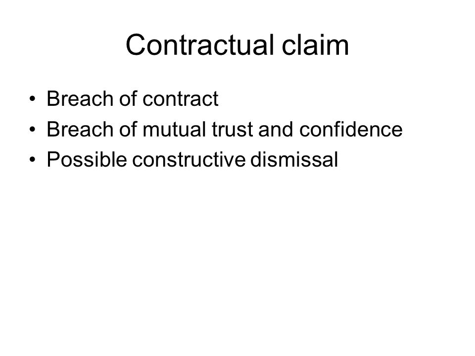 mutual trust in employment contracts High court of australia unanimously concludes there is no implied duty of mutual trust & confidence implied by law into aus employment contracts.
