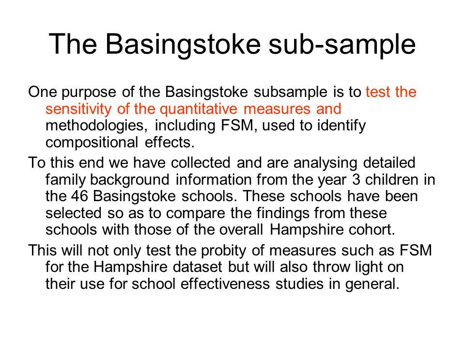 The Basingstoke sub-sample