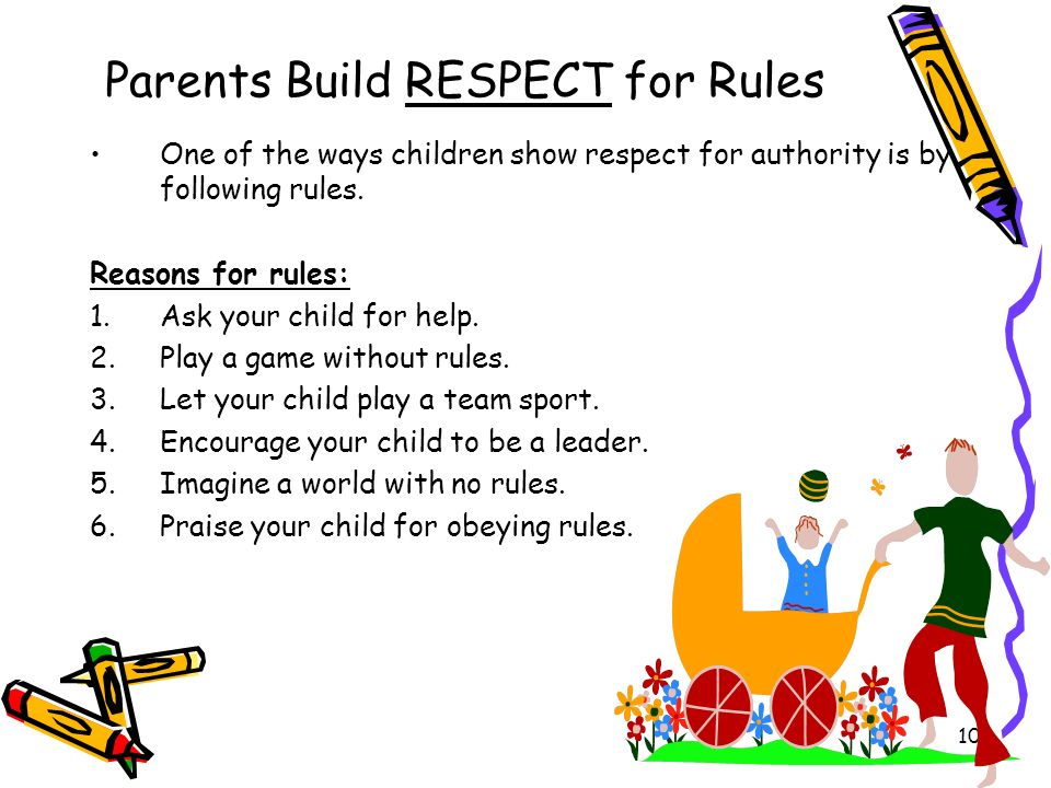 Parents Build RESPECT for Rules