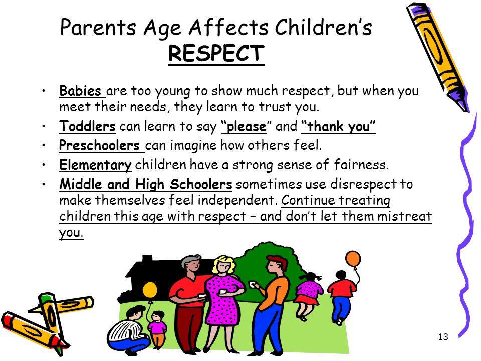 Parents Age Affects Children's RESPECT