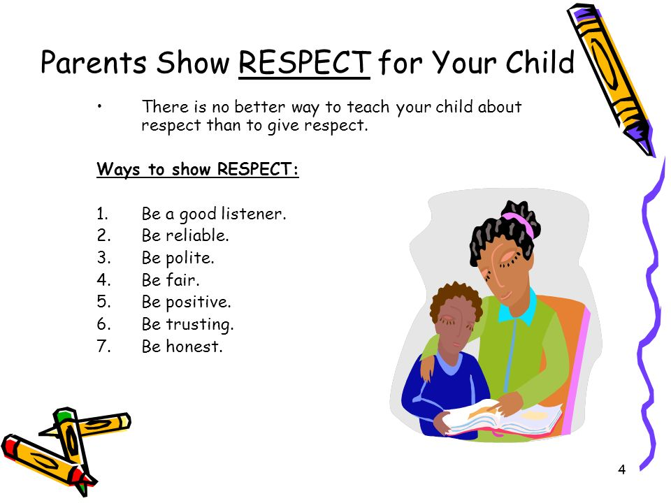 Parents Show RESPECT for Your Child