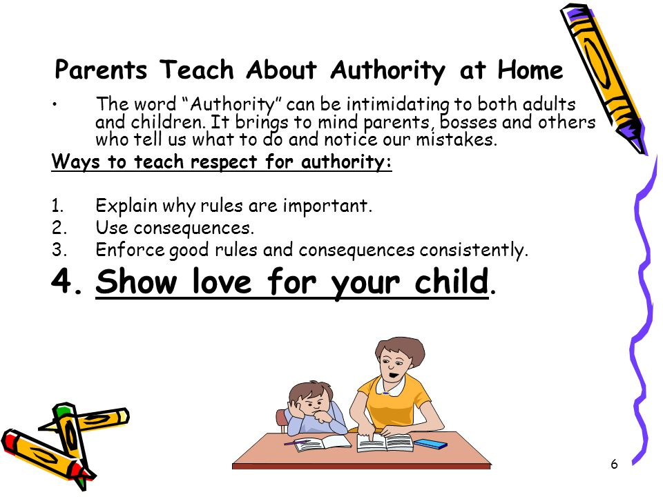 Parents Teach About Authority at Home