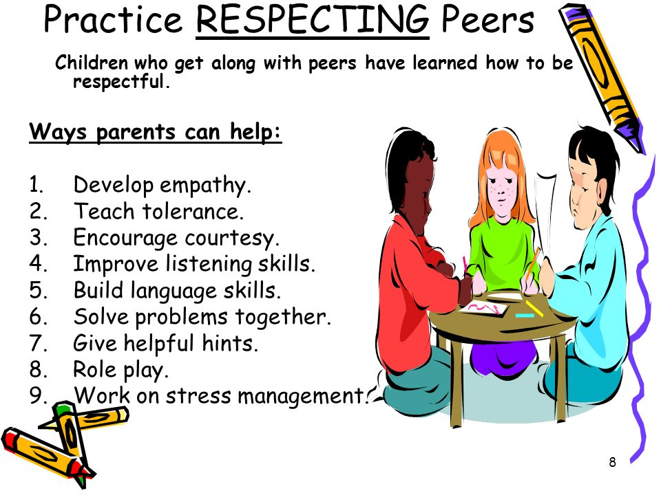 Practice RESPECTING Peers