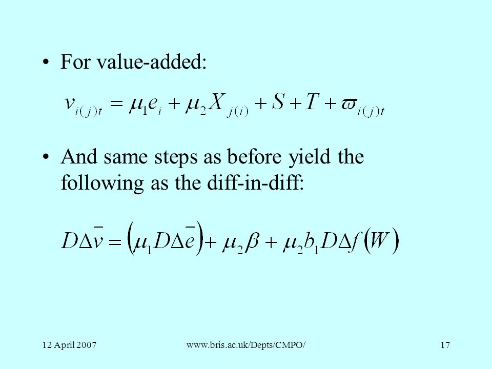 And same steps as before yield the following as the diff-in-diff: