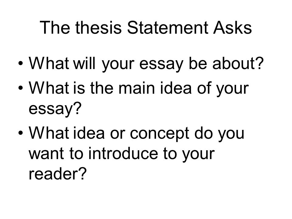 Creating A Thesis Statement  Ppt Download