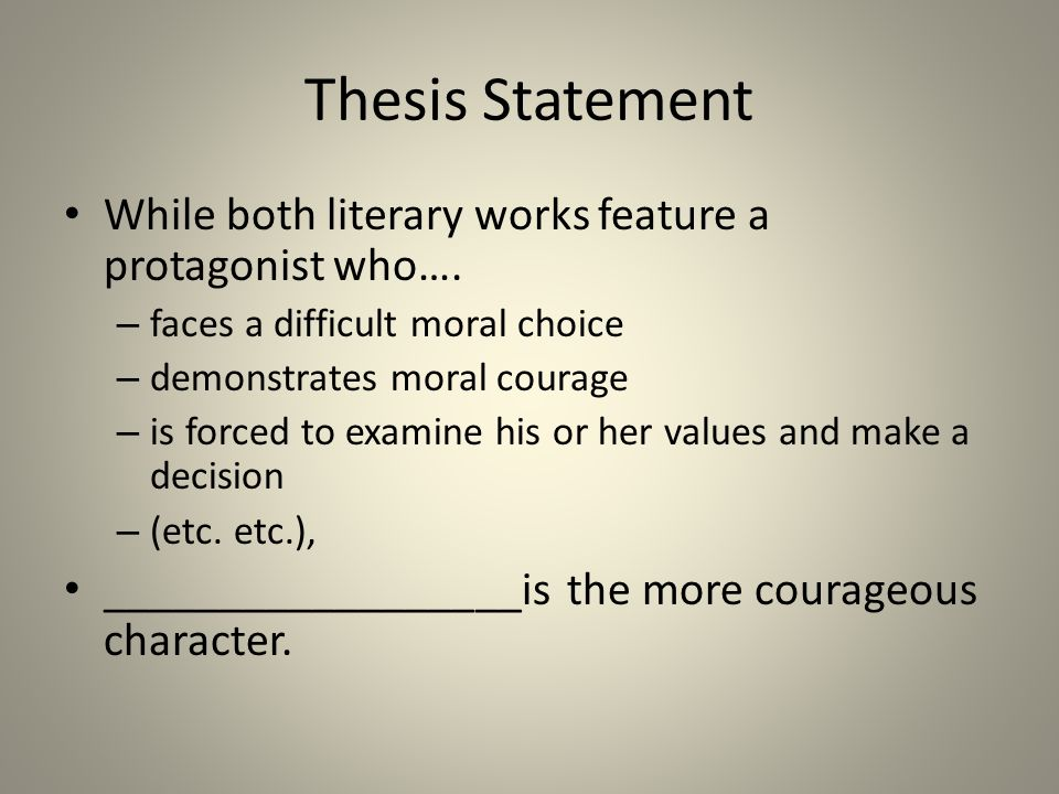 developing your ldquo moral courage rdquo essay ppt 6 thesis