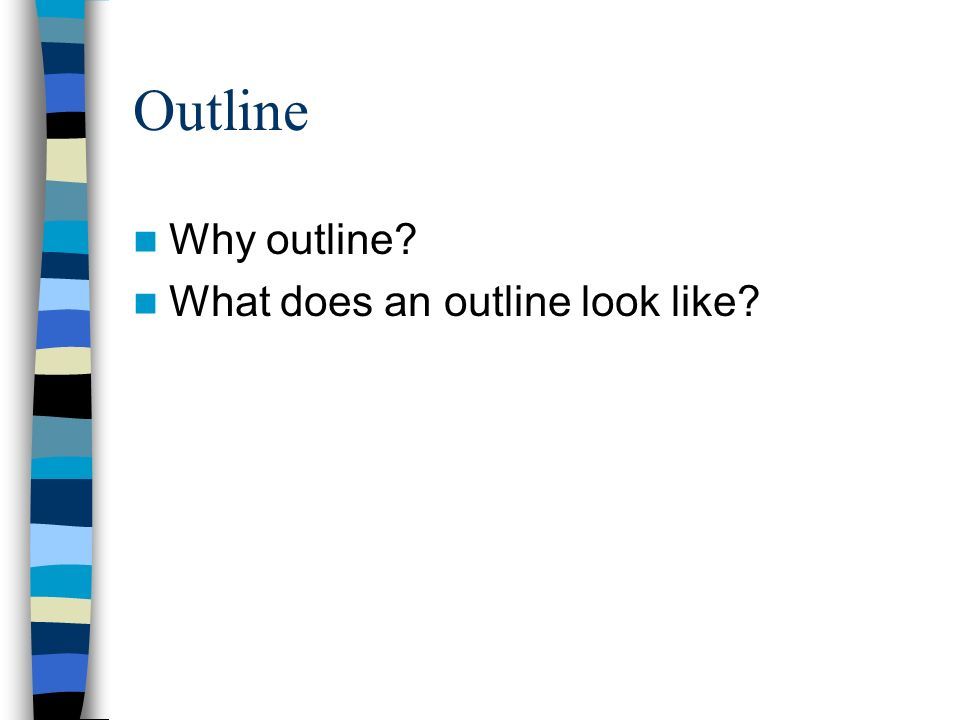 Does essay outline look like