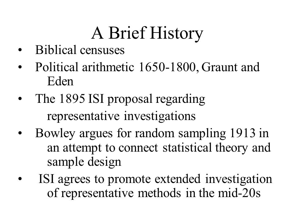 A Brief History Biblical censuses