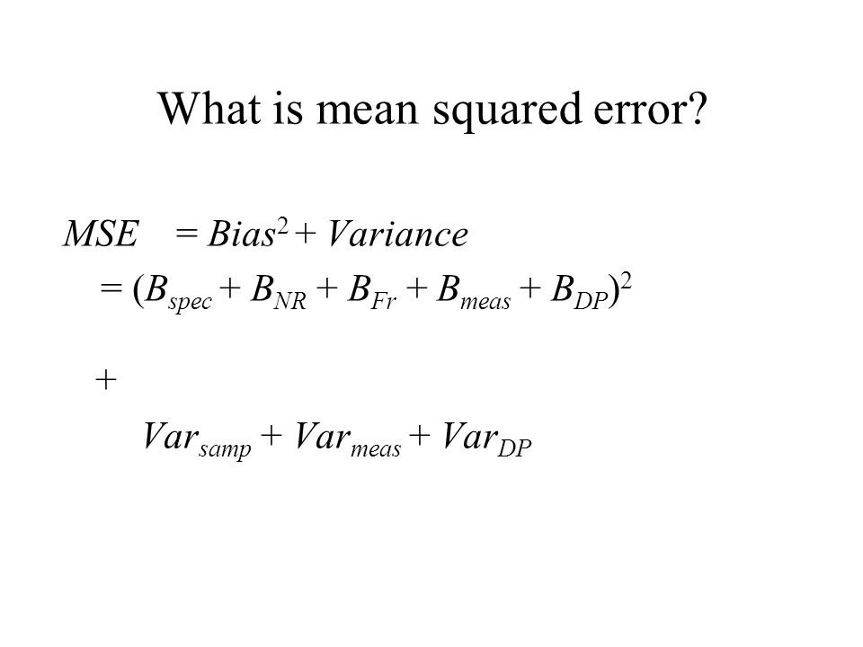 What is mean squared error