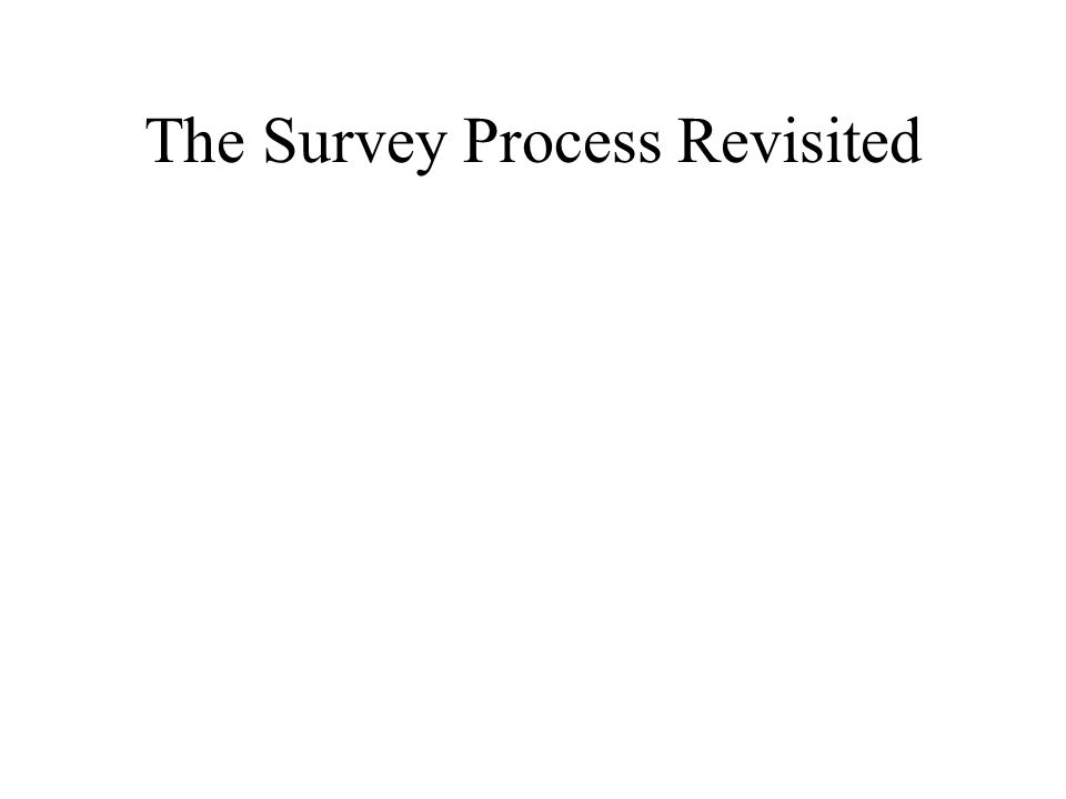 The Survey Process Revisited
